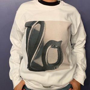 Lo White Screenprint Sweatshirt